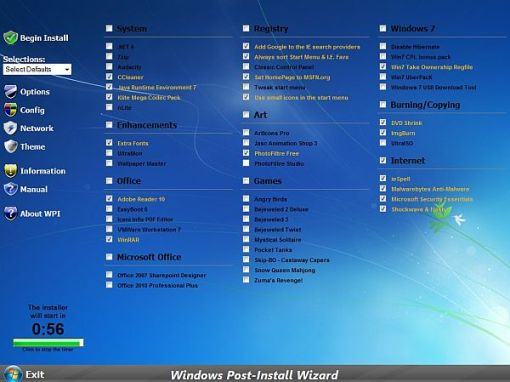Windows Post-Install Wizard