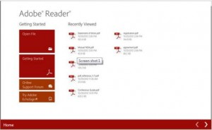 Adobe Reader for Windows 8