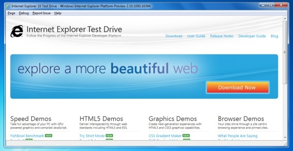 IE10 for Windows 7