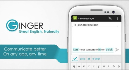 Ginger, a tool that helps us to write better English