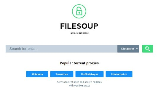 Filesoup, the alternative to Google for search P2P download