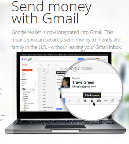 Gmail allows to send money via email