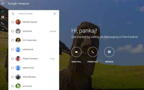 Hangouts now has its own web, talk without having to install the application